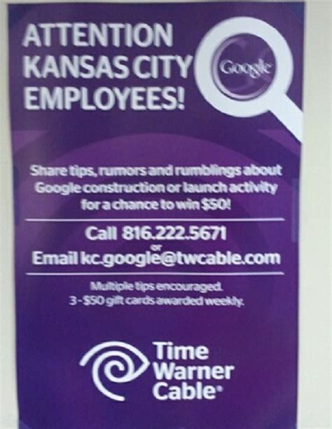 Time Warner Gift Card - time warner cable paying kansas city employees to spy on google fiber the verge