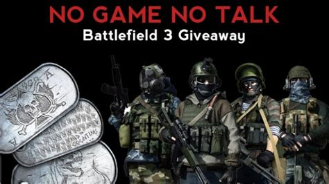 Battlefield 3 Giveaway - battlefield 3 specact kit and dog tag pack giveaway no game no talk