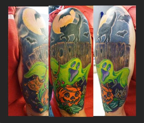 halloween tattoo sleeve 24 tattoos on sleeve