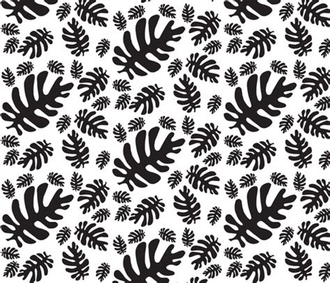 black and white leaf pattern funky tropical leaf pattern black white fabric