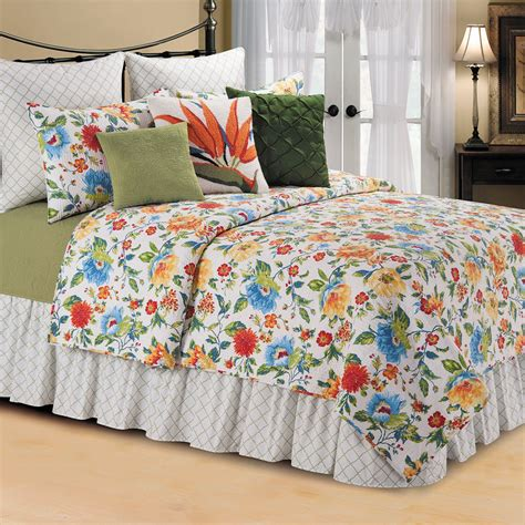 Floral Bedding by Multicolored Floral Quilt Bedding