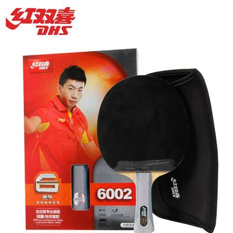 Diskon Bat Ping Pong Tenis Meja Dhs 6002 Free Tas dhs original 6 table tennis racket 6002 6006 with rubber hurricane 3 pips in bag