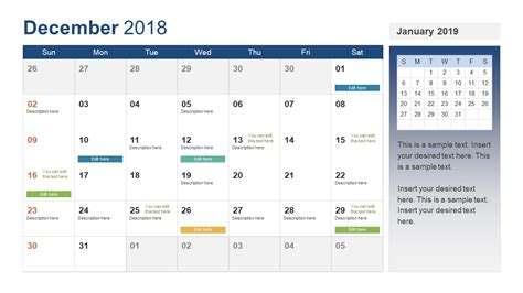 Powerpoint Calendar Template Year 2018 Slidemodel Powerpoint Calendar Template 2018