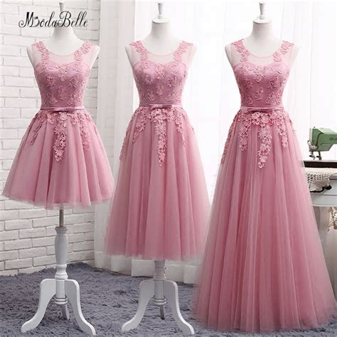 Dress Pretty Dusty Pink aliexpress buy modabelle lace dusty pink bridesmaid dresses for wedding cheap demoiselle d