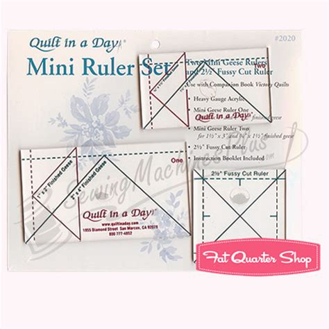 Quilt In A Day Ruler by Quilt In A Day Mini Geese Ruler Set By Eleanor Burns Qd 2020