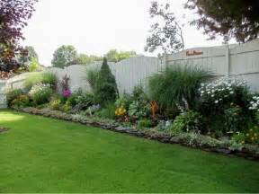 Backyard Landscaping Ideas For Privacy Wordless Wednesday Backyards Flower And White Fence