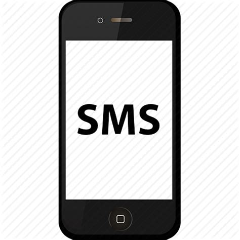 sms on mobile mobile text message icon free icons