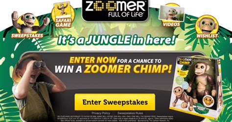Online Sweepstakes Ending Soon - cartoon network wants you to win the zoomer chimp sweepstakes