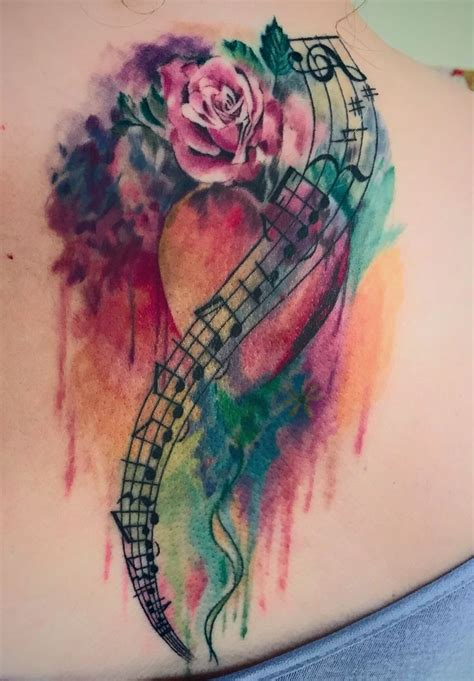 rainbow music notes tattoo www pixshark com images