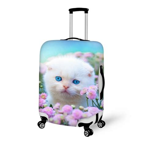 cute pattern luggage cute persian cat pattern 3d painted luggage cover