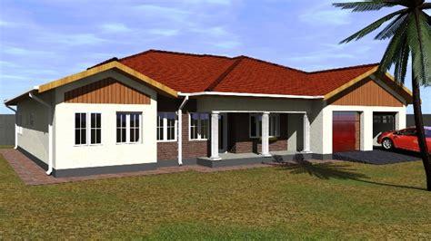 bedroomed house plans  zimbabwe modern house