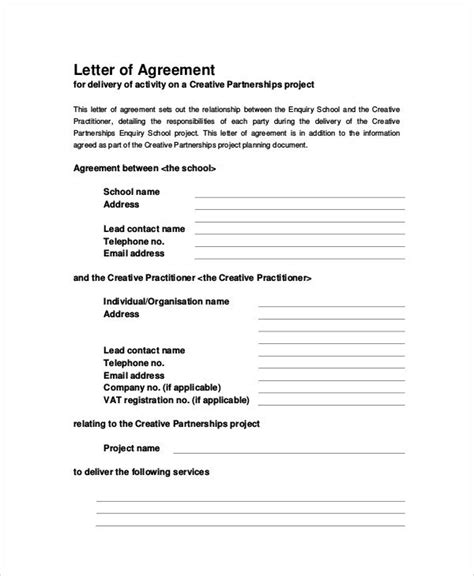 Agreement Letter In 31 Sle Agreement Letters