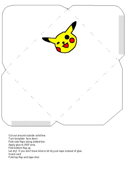 pikachu birthday card template birthday card template