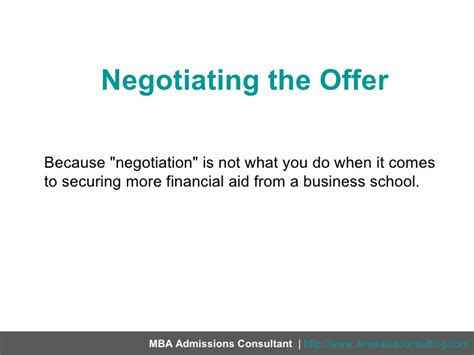 Negotiation Notes Mba by Negotiating The Offer