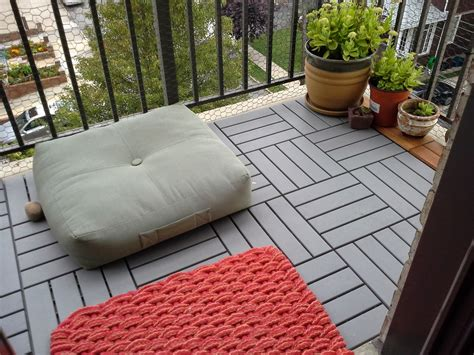 Apartment Balcony Awning Misc Mind Ikea Runnen Deck Tiles