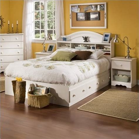 3 piece white bedroom set south shore summer breeze kids full wood bookcase bed 3