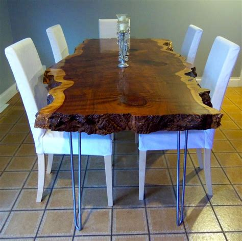 Live Edge Kitchen Table Crafted Live Edge Redwood Kitchen Table By Ozma Design Custommade