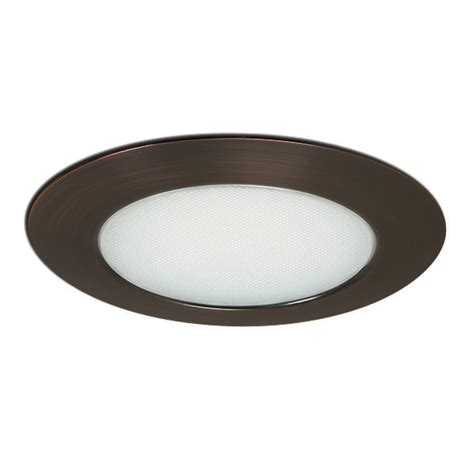 recessed lighting for bathroom showers shop nora lighting albalite bronze shower recessed light trim at lowes com