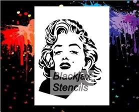 airbrush stencil template marilyn 07 large airbrush stencil template wall