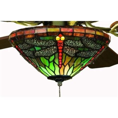 sky dragonfly stained glass ceiling fan 52 inches