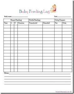 newborn feeding  changing log spreadsheet template