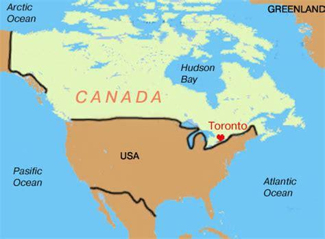canadian map toronto canada map toronto