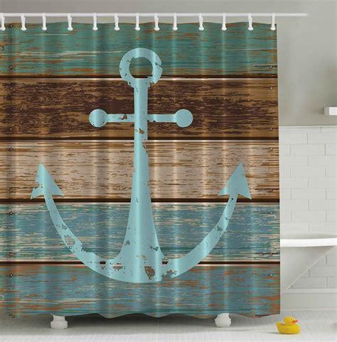 Rustic nautical anchor shower curtain whyrll com