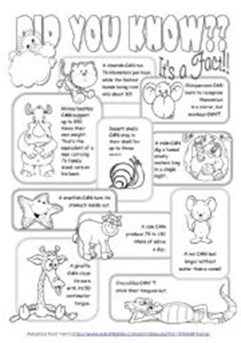 printable animal fun facts english teaching worksheets animal facts