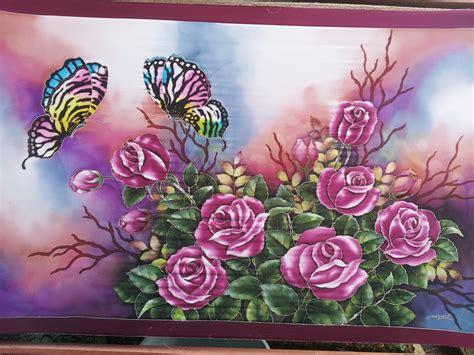 design batik flora wallpaper abstrak lovers batik fauna batik pagi sore biru