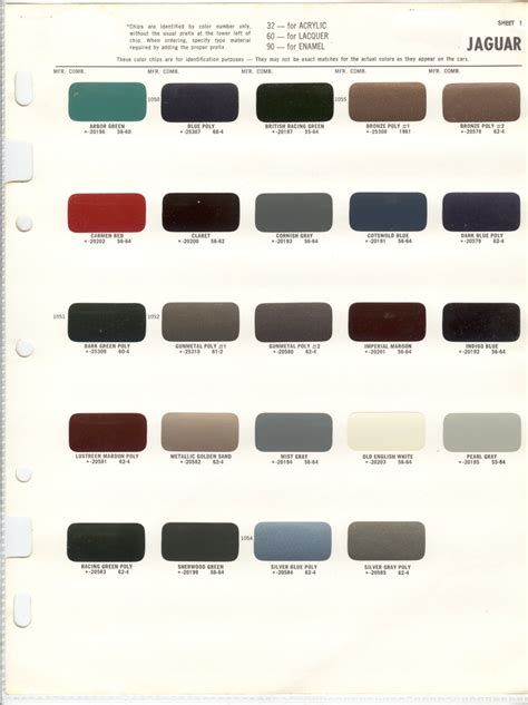 paint colors for jaguar pin by david pergant on xj6 jaguar forum