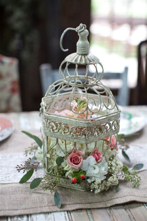 Wedding Birdcage Table Centerpiece 20 Flower Birdcage Birdcage Centerpieces Weddings