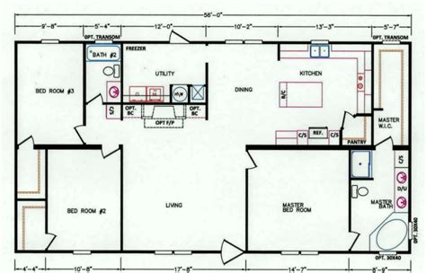3 bedroom mobile home floor plans 3 bedroom floor plan k 26 hawks homes manufactured modular conway rock arkansas
