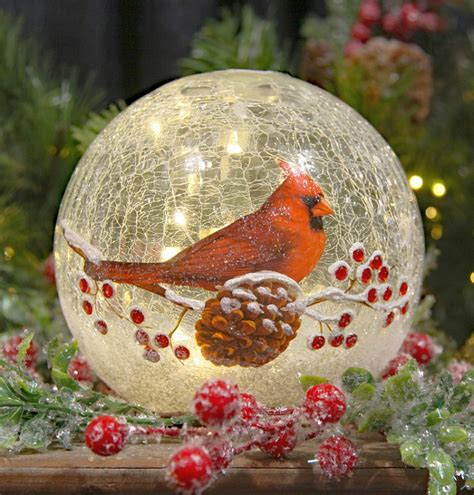 crackle glass l globe cardinal crackle glass led globe 6 inch