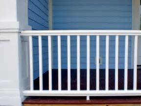 White Banister Rail How To Install A Porch Railing Hgtv