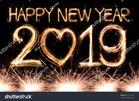 new year pic happy new year 2019 written sparkle stock photo 327721397