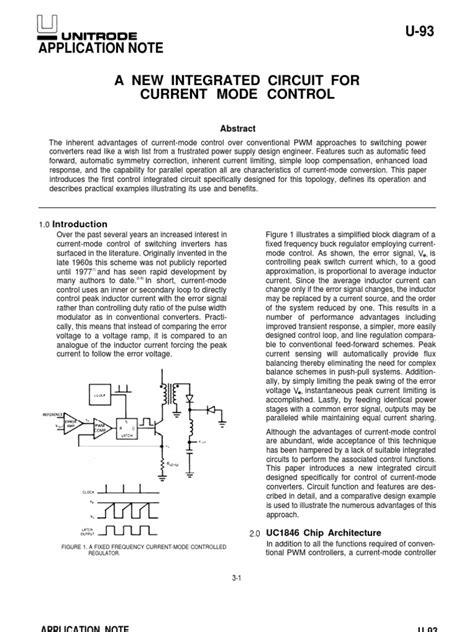 a new integrated circuit for current mode u 93 application note a new integrated circuit for current mode