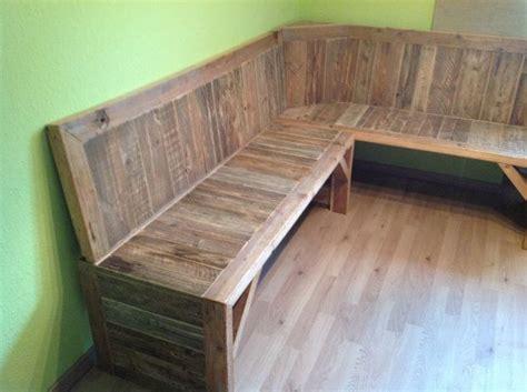 pallet corner bench pallet corner bench