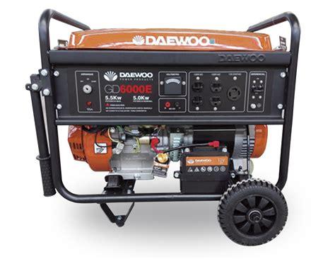 daewoo gasoline generator gd 6000e