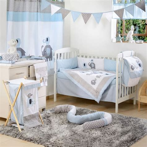 Baby Boy Bedding Sets Blue Elephant Crib Collection 4 Pc Crib Bedding Set Boys Crib Bedding Cribs