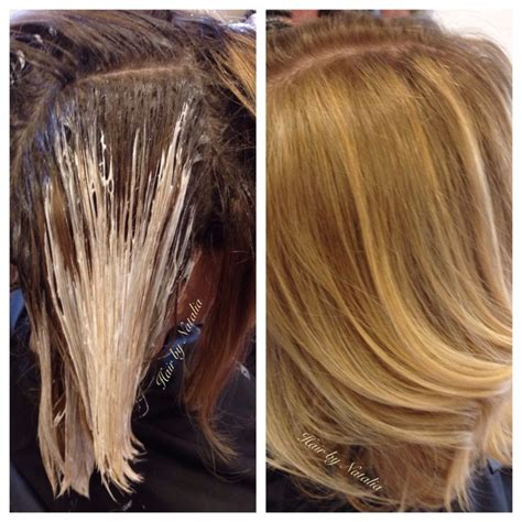 cover up ombre hair balayage technique for mid length bob covering gray and