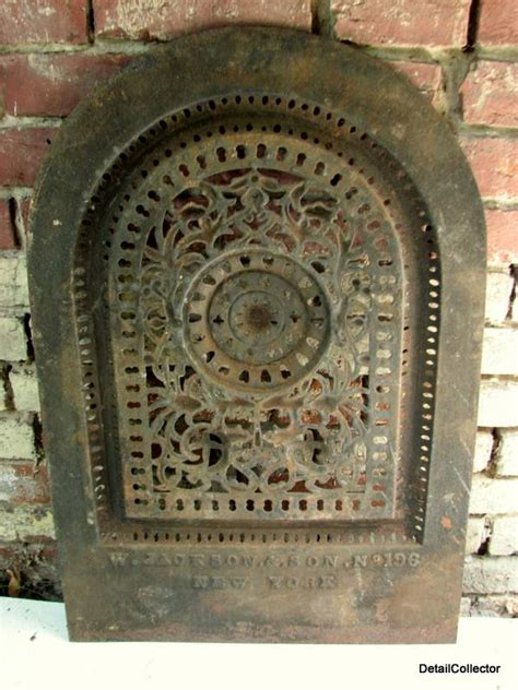 Antique Fireplace Summer Cover by Antique Jackson Ny Fireplace Grate Summer Cover Vent