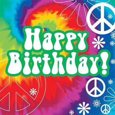 tie dye fun quot happy birthday quot luncheon napkins