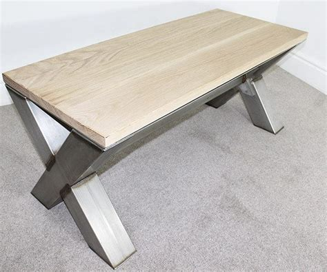 x frame coffee table x frame industrial coffee table oak and steel ltd