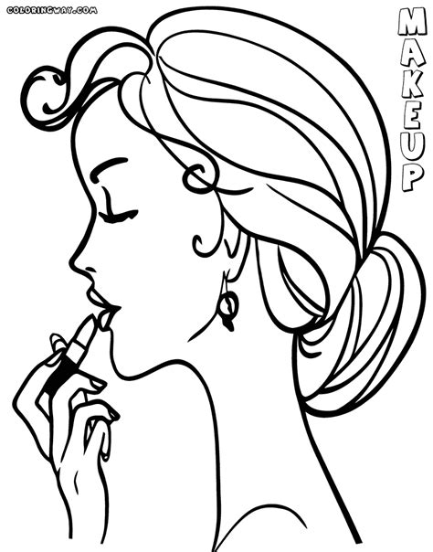 makeup coloring pages make up outline coloring pages sketch coloring page