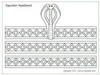 crown template ks2 egyptian door decoration google search work helps
