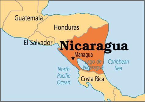 where is nicaragua on the world map nicaragua operation world