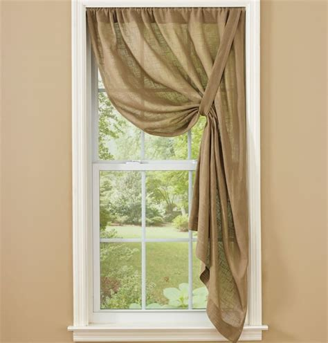 42 x 36 curtains taupe courtland tie up curtain panel 42 quot x 63 quot