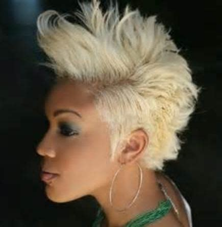 black women with short blonde mohawks blonde short mohawk hairstyles black women