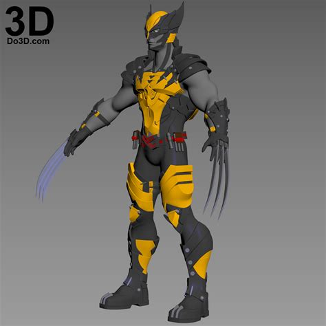 3d printable model x men variant play arts kai logan