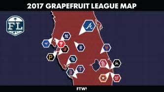 grapefruit league map why the braves by far the toughest schedule for the win